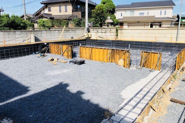 坂東市長須地内 S様邸配筋検査終了